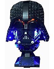 BAXT Ledverlichtingsset voor Lego Darth Vader helmet bouwset, led-licht compatibel met Lego 75304 (geen Lego-model), gecontroleerd door typeplaatje