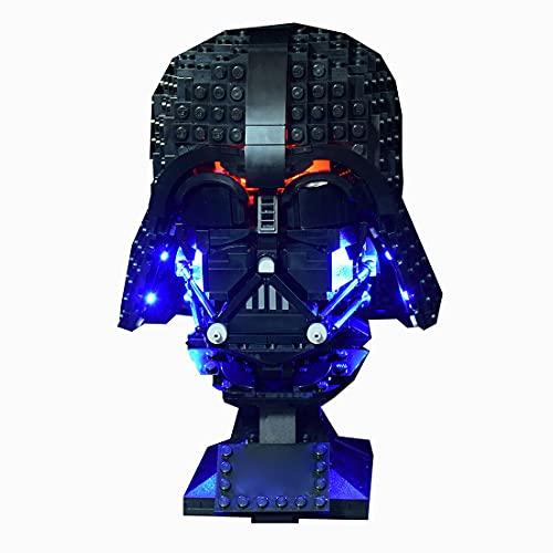 TASS Illuminazione a LED compatibile con il casco Lego 75304 Star Wars Darth Vader (solo LED incluso, nessun kit Lego)