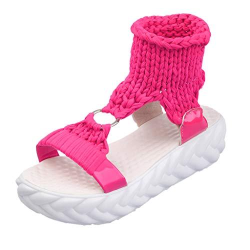 Women Sommer r Böhmen Schuhe Strandschuhe Flach Perlen Zehentrenner Sandalen Fashion Platform Sandals Comfort Big Size Casual Shoes
