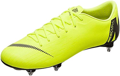 Nike Performance Mercurial Vapor XII Academy SG-Pro - Scarpe da calcio da uomo, colore: giallo fluo/nero, 11,5 US - 45,5 EU - 10,5 UK