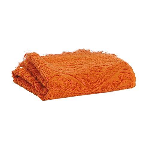 Vivaraise - Serviette de Toilette Zoé - 50x100 cm - Tissu éponge Absorbant 100% Coton - Doux Moelleux - Motif Jacquard élégant