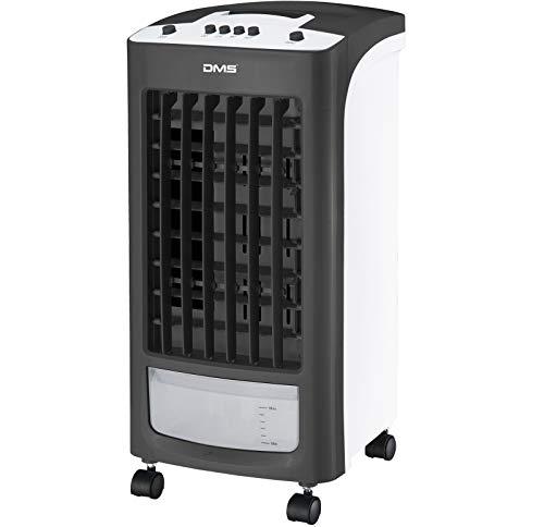 DMS 4 in 1 Klimaanlage | Multifunktionales Klimagerät | Ventilator/Luftkühler | Luftbefeuchter | Antibakterieller Luftreiniger | Mobil | 3 Ventilationsstufen und 2 Programme | schwarz/weiß