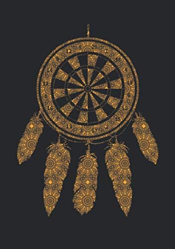 Notizbuch A5 dotted, gepunktet, punktiert mit Softcover Design: Dart Traumfänger Schamanen Symbol Dartspieler Geschenk: 120 dotted (Punktgitter) DIN A5 Seiten