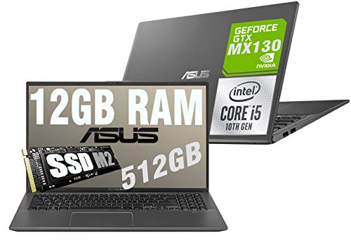 Notebook Asus Vivobook Slim I5 Display Led Full HD 15.6' Cpu Intel quad core i5-1035G1 10th gen 3,6Ghz /Ram 12Gb DDR4 /SSD M2 512GB /VGA INTEL UHD MX130 2GB /Hdmi /Wifi /Bluetooth /Windows 10 Pro
