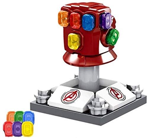 LCDY 1,44-Zoll-Superhelden-Serie Unbegrenzte Thanos Handschuhe Kinder Diy3d Modell Diamond Mini Building Nano Bausteine Set Jungen und Mädchen Rot/Gelb