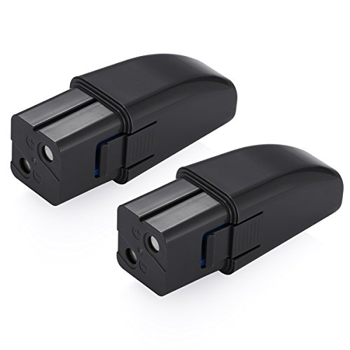 Powerextra 2 Pack 7.2V 2000mAh Ni-MH Replacement Battery Compatible with Ontel Swivel Sweeper G1 & G2