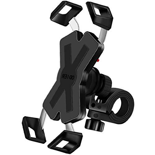 自転車 スマホ ホルダー 固定式スマホスタンド バイク スマートフォンホルダー スポンジパッド付き 脱360度回転 脱落防止 防水 GPSナビ マウント スタンド 脱着簡単 角度調整 強力な保護 iPhone/Android 多機種対応