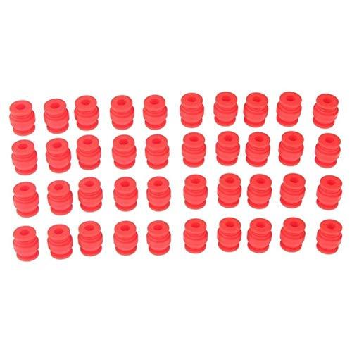 HAOKAN 40pcs FPV Ammortizzatori Anti Shake Vibration Smorzamento Sfere di Gomma per Aerei Per DJI Phantom Gimbal Fotograpy Drone Ricambi (Colore: Rosso)