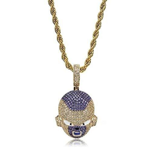 Collar Colgante Joyería Colgante Collar Hip Hop Hombres Y Mujeres Charm Chain Necklace-Gold