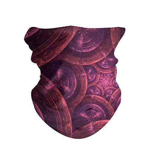 HAOZI 2 piezas 16 en 1 tocado para hombres y mujeres, yoga, deportes, viajes, entrenamiento, diademas anchas, polaina, bandana, pasamontañas, turbante de pelo, bufanda, color Anillos de círculos fractales, tamaño 50 CM x 25 CM