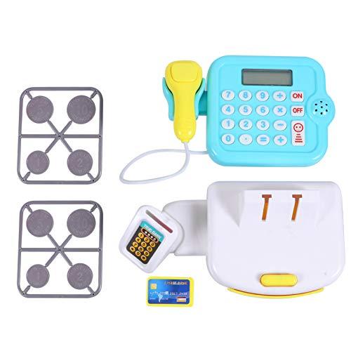 Tomaibaby Caja Registradora de Juguete Azul para Niños con Escáner de Compras...