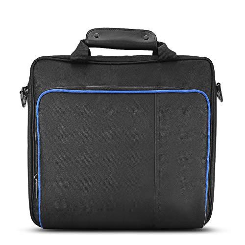 Diyeeni PS4 Travel Draagtas, waterdichte schokbestendige beschermhoes voor Playstation4, draagbare handtas met verstelbare gevoerde schouderriem voor PS4 gameconsoles en accessoires