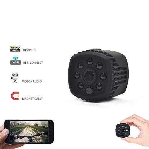WXJHA Mini Macchina Fotografica di WiFi 1080P HD Remote Riproduzione Video Piccolo Micro Cam Motion Detection Visione Notturna casa Monitor di Visione Notturna di Allarme per la Sicurezza Domestica