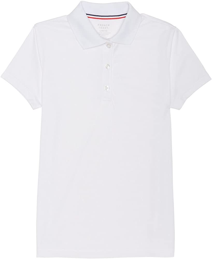 French Toast Girls' Ranking TOP19 Short Active Polo Sale special price Stretch Sleeve