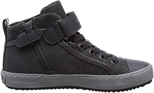 Geox Damen J Kalispera Girl I Hohe Sneaker, Grau (Dk Grey), 36 EU