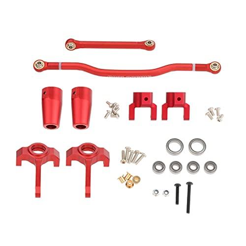 Perfeclan Kits de Enlace de Dirección C Hub Carrier para Axial 90021 90027 90035 RC Escalada camión Coche DIY modificación Suministros - Rojo