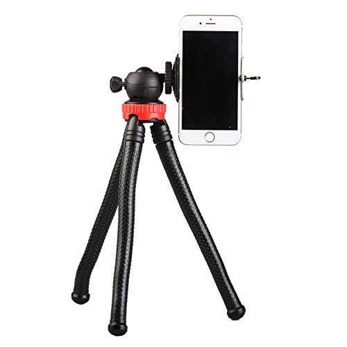 SFASTER Camera Statief Flexibele Telefoon Statief Mobiele Stand Houder 360° Draaibaar voor Telefoon Clip voor iPhone Xs Max, Samsung, Statief voor Camera, Spiegelloze DSLR Sony Nikon Canon