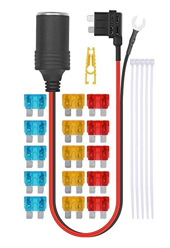 LIULIANG MeiKeL 1SET 30CM Coche de Cigarrillo de Cigarrillo 12V Extensión del zócalo de la extensión del Fusible estándar del Soporte del Soporte del Fusible 5A / 10A / 15A (Color Name : ATC(M))
