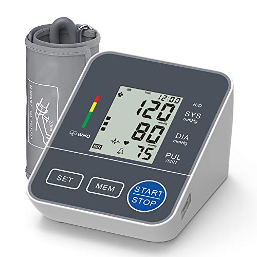 OIIKURY Blood Pressure Monitor Upper Arm for Home Use Automatic Digital BP Machine with Wide-Range Cuff 22-42cm, Self Reading Speaker, 2x120 Recordings, Large Display Blood Monitors Pressure