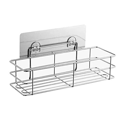 OUMTG Ducha Caddy Cesta Estante Shampool Holder Organizador, sin Taladro de perforación de Pared de baño de Pared estantería Estante de baño (Color : Silver)