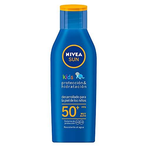 NIVEA Sun Kids Protector Solar Hidratante, Fps 50+, 125 Ml, Pack of 1