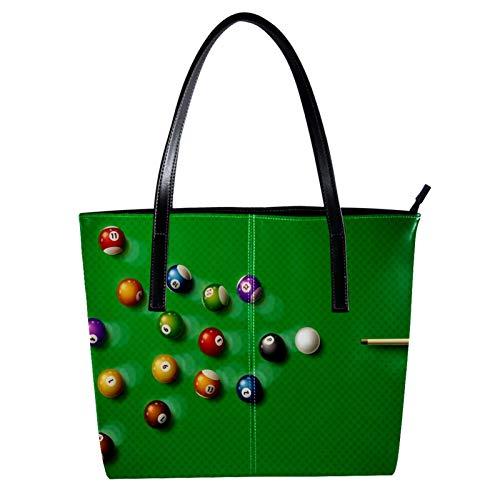 LORVIES Pool, Billard Pool, Hall Eight Ball Umhängetasche aus PU-Leder und Handtasche für Damen