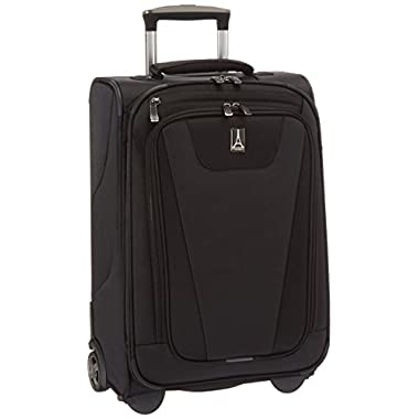 Travelpro Maxlite 4 22  Expandable Rollaboard Suitcase, Black