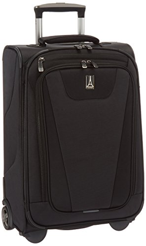 Travelpro Maxlite 4-Softside Expandable Rollaboard Upright Luggage, Black, Carry-On 22-Inch