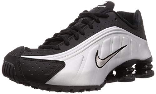 Nike Shox R4 - Zapatillas Deportivas (Talla 8,5 cm), Color Negro y Plateado
