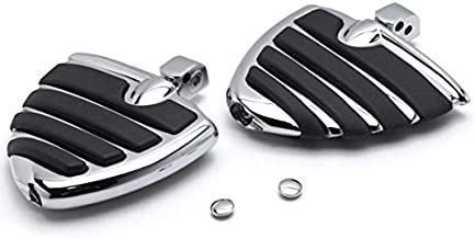 Krator Chrome Motorcycle Wing Foot Pegs Footrests L+R For Yamaha V-Star 950 T 2009-2013 Rear