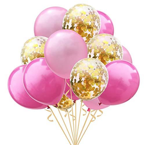 Angelliu Ballonnen 15st Latex Ballonnen Met Confetti En Pailletten Voor Feest, Bruiloft, Verjaardag