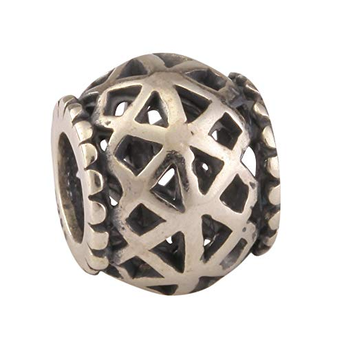 925 Sterling Silver Celtic Knot Charm interconnectedness & continuity Bead Compatible with Pandora All Other European Charm Bracelet Necklace Women Birthday Gift EC237