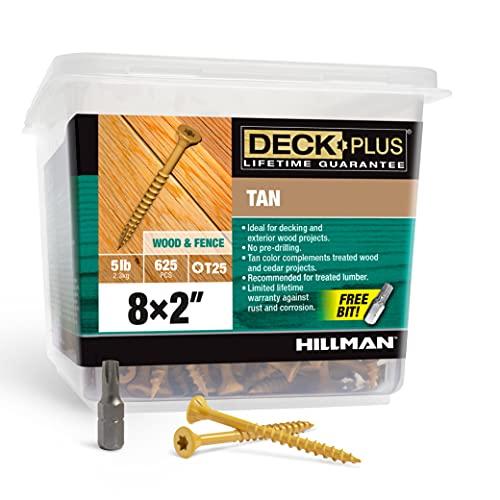 Deck Plus 48414 Wood Screws #8 x 2', Tan, 5lb Box