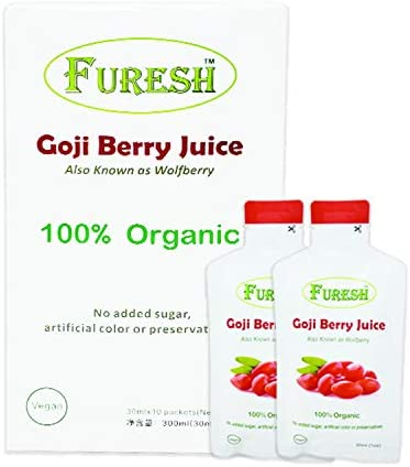 100 Pure Goji Berry Juice 10 Packs Healthy Extract Vegan Superfruit Drink Portable Pouch 30ml product image