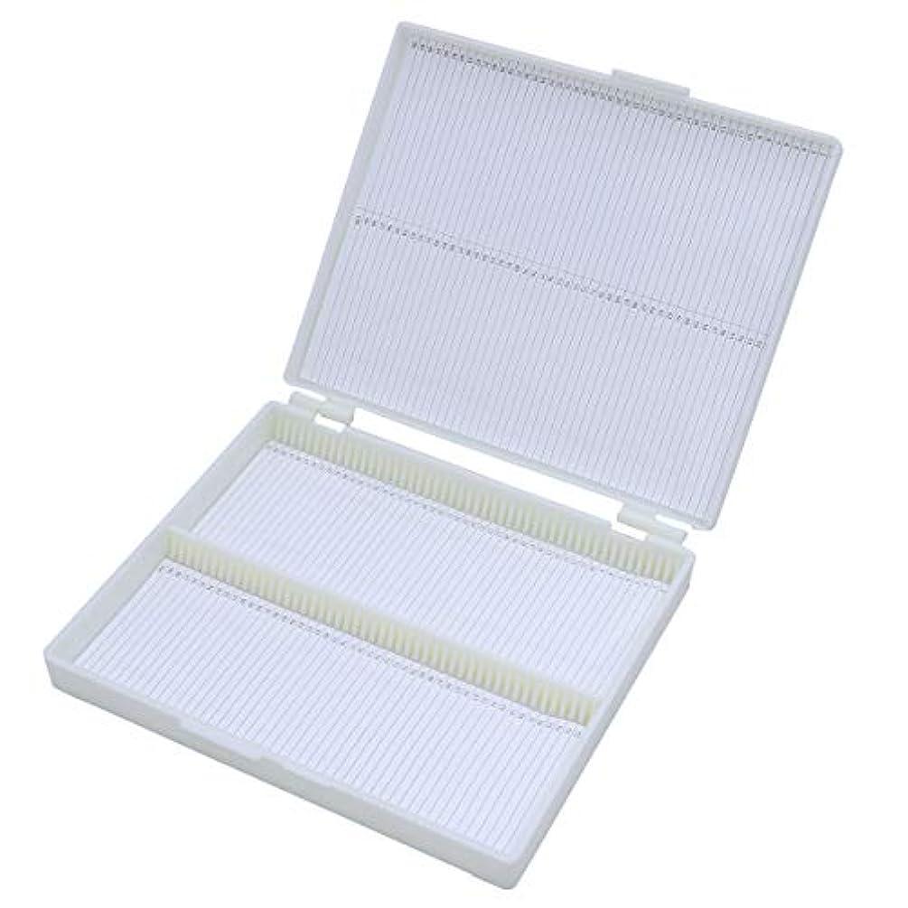 STOBOK 100 Grid Slide Box Professional Storage Box Microscope Slide Storage Box Slide Capacity Box