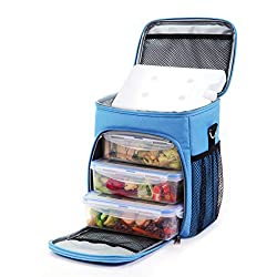 top 10 worker lunch box A men's saladay lunch box, a cooler bag with two compartments, contains three large dishes …
