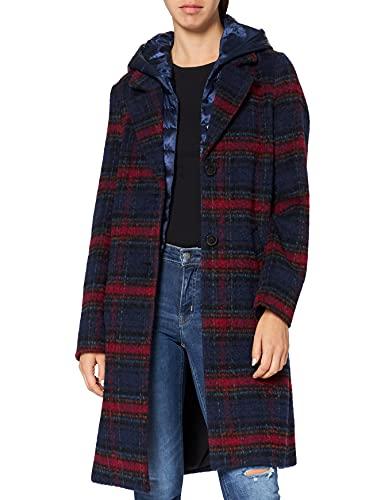 s.Oliver 05.909.52.8000 Abrigo, Azul (Electric Blue Check 56n0), 48 para Mujer
