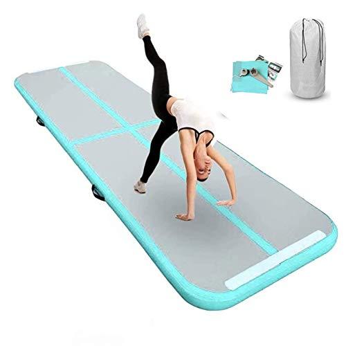 FBSPORT Airtrack Matte, 10 cm Aufblasbare Gymnastic Matte, Länge 3 m Tumbling Matte, Trainingsmatte, Aufblasbare Matratzen mit Tragetasche