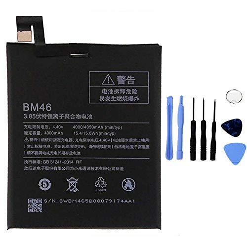 Ellenne Batería Compatible con Xiaomi Mi Redmi Note 6 BN46 Alta Capacidad 4050 mAh con Kit de desmontaje Incluido