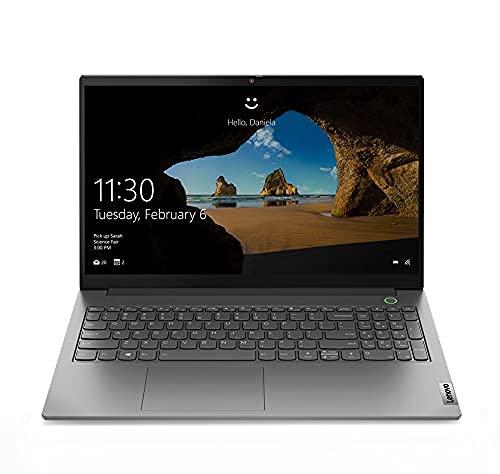 "Lenovo ThinkBook 15 Intel 11th Gen Core i7 15.6"" (39.62 cm) FHD IPS 300 nits Antiglare 100% sRGB Thin and Light Laptop (16GB/512GB SSD/Windows 10/MS Office/Mineral Grey/1.7 Kg), 20VE00JUIN"