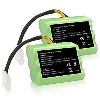 Fancy Buying [2 Pack] Upgraded 7.2V 4000mAh NI-MH Battery for Neato XV-11 XV-12 XV-14 XV-15 XV-21 XV-25 XV Essential XV Signature Pro Robotic Vacuum Cleaners Neato Battery 945-0005 205-0001