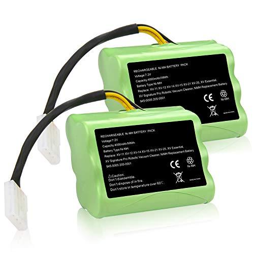 Fancy Buying [2 Pack] Upgraded 7.2V 4000mAh NI-MH Battery for Neato XV-11 XV-12 XV-14 XV-15 XV-21 XV-25, XV Essential, XV...