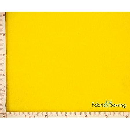 Light Yellow Anti-Pill Polar Fleece Fabric Polyester 13 Oz 58-60