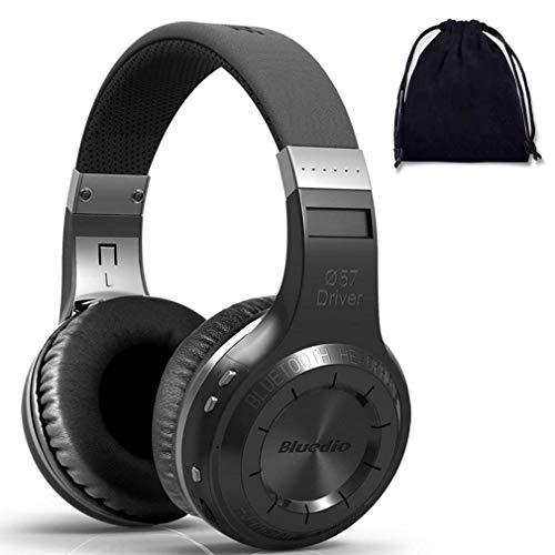 Bluedio HT B Auriculares inalámbricos Bluetooth 5.0 con Graves Pesados con función de Nube, Controlador de turbina con Cable e inalámbrico Auricular (sin Ranura para Tarjeta Micro SD, Negro)