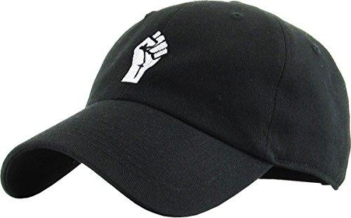 KBETHOS Fist Dad Mütze Baseball Cap Unconstructed Polo-Stil verstellbar, Unisex-Erwachsene Herren, schwarz, Einstellbar