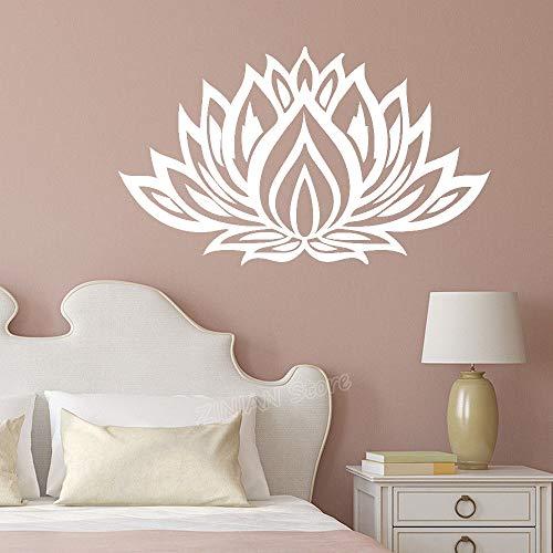 Geiqianjiumai Lotus Vinyl muursticker woonkamer decoratie muur applicatie muur tattoo slaapkamer decoratie op gesneden vinyl