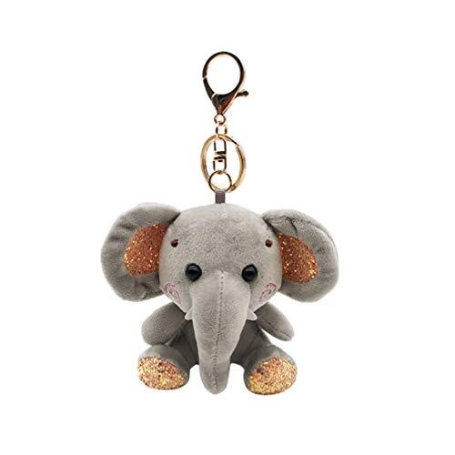 FENICAL Llavero, diseño de elefante, para niños adultos, color gris gris 10 cm