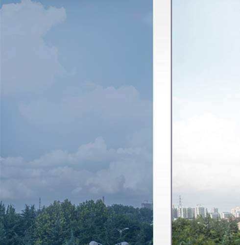Coavas One Way Window Film Sun Blocking 23.6 x 78.7 Inches Non-Adhesive Window Tint Heat Control Mirror Solar Film Static Cling Glare Reduction Anti UV Removable for Home and Office Black