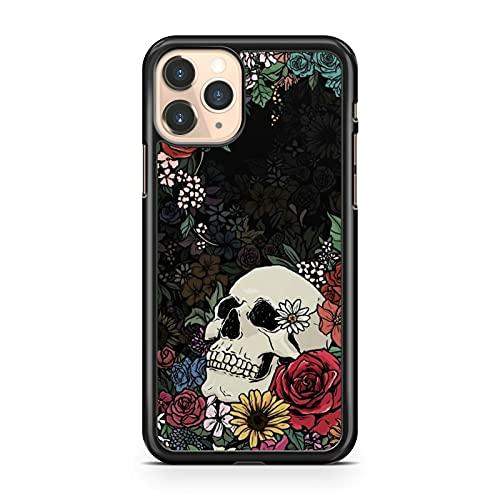 Carcasa compatible con Majestic White Skull Colorful Luscious Cool Flowers (modelo de teléfono: compatible con Samsung Galaxy S7 Edge)