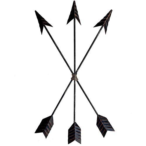 Crafia Cast Iron Metal Native American Arrow Wall Decor and Wall Sculptures | Metal Wall Art and Home Decor | Arrow Farmhouse Wall Decor